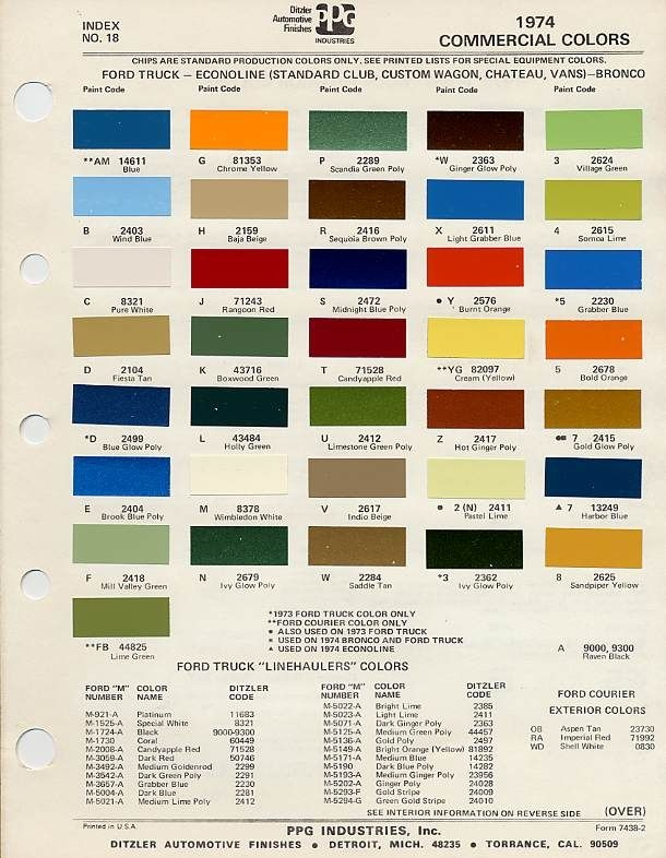 1974 ford paint colors vehicles of 1974 classic ford Ford Interior Color Chart