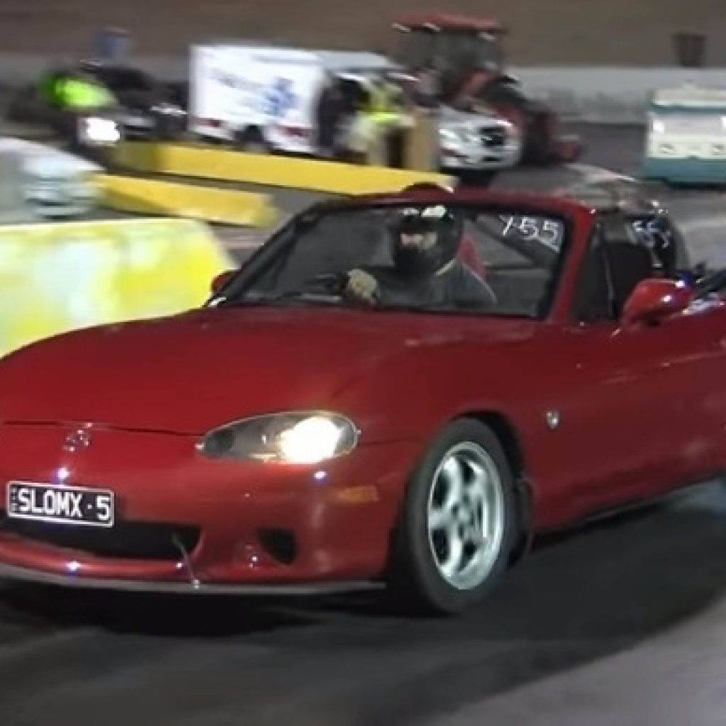 1997 mazda miata mx5 4cyl turbo 14 mile drag racing Mazda Miata Quarter Mile