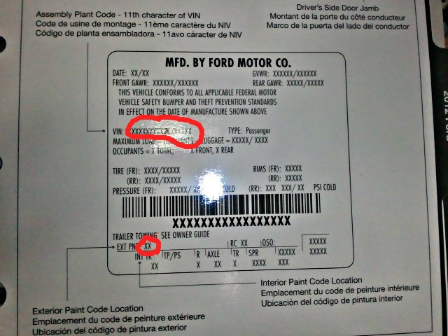 2009 paint code information master list ford f150 forum Ford Oxford White Paint Code