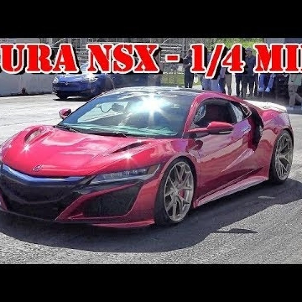 2018 acura nsx w downpipes how fast is it 14 mile video road test tv Acura Nsx Quarter Mile