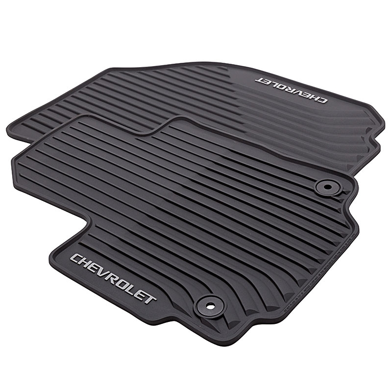 2018 equinox floor mats jet black front row chevrolet logo premium all weather Chevrolet Floor Mats For Equinox