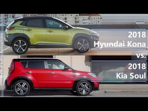 2018 hyundai kona vs 2018 kia soul technical comparison Kia Soul Vs Hyundai Kona