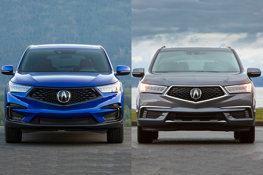 2019 acura rdx vs 2019 acura mdx whats the difference Dimensions Of Acura Rdx