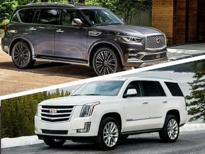 2019 cadillac escalade vs 2019 infiniti qx80 which is best Infiniti Qx80 Vs Cadillac Escalade