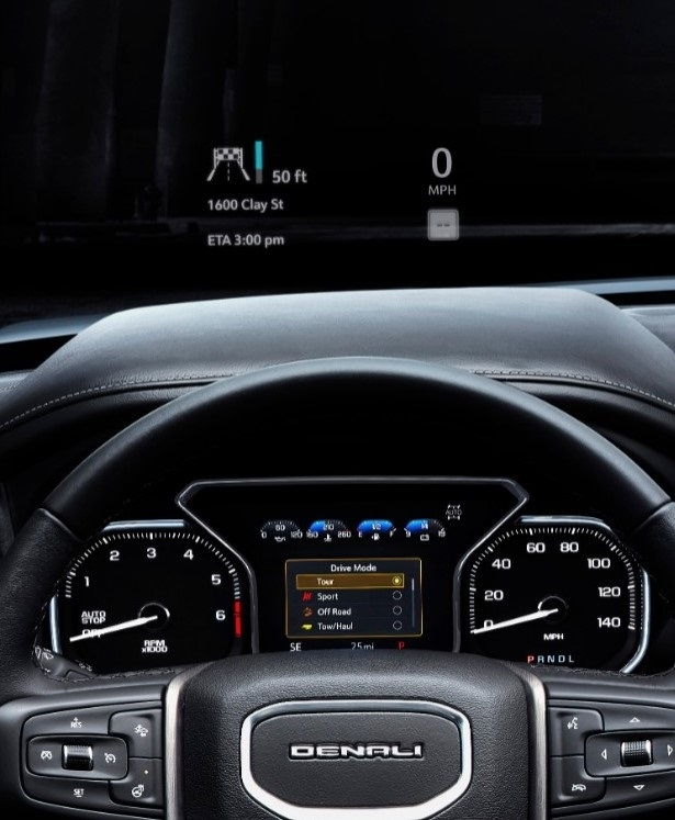 2019 gmc sierra denali head up display in wheel time Gmc Sierra Heads Up Display