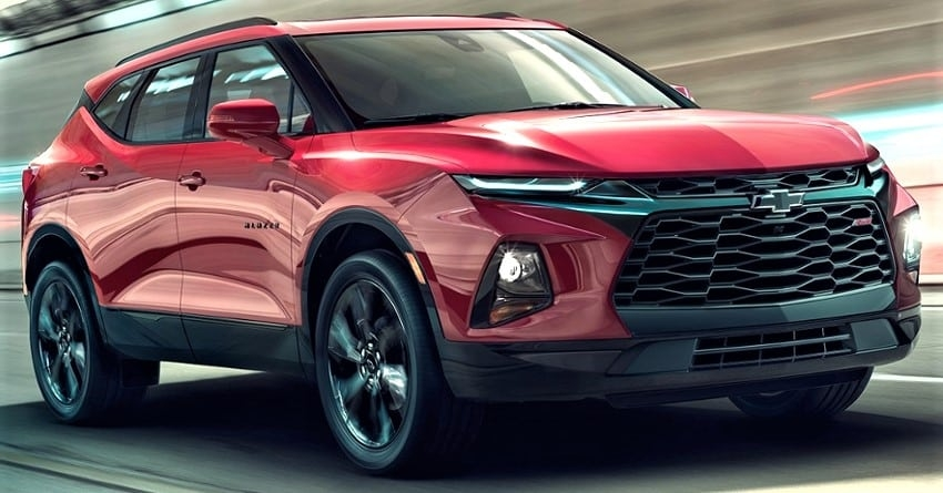 all new camaro inspired 2019 chevrolet blazer suv officially Chevrolet Upcoming Cars In India