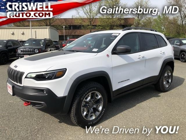 bright white clearcoat 2019 jeep cherokee trailhawk 4x4 for sale at criswell auto 1c4pjmbxxkd421832 Jeep Cherokee Trailhawk
