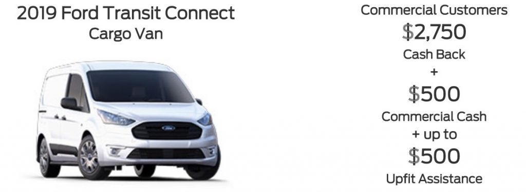 ford discount reduces transit connect price 3750 Ford January Incentives