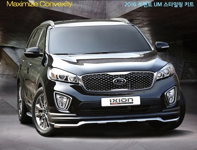 ixion front lip add on kit for kia sorento um 2016 Kia Accessories Sorento