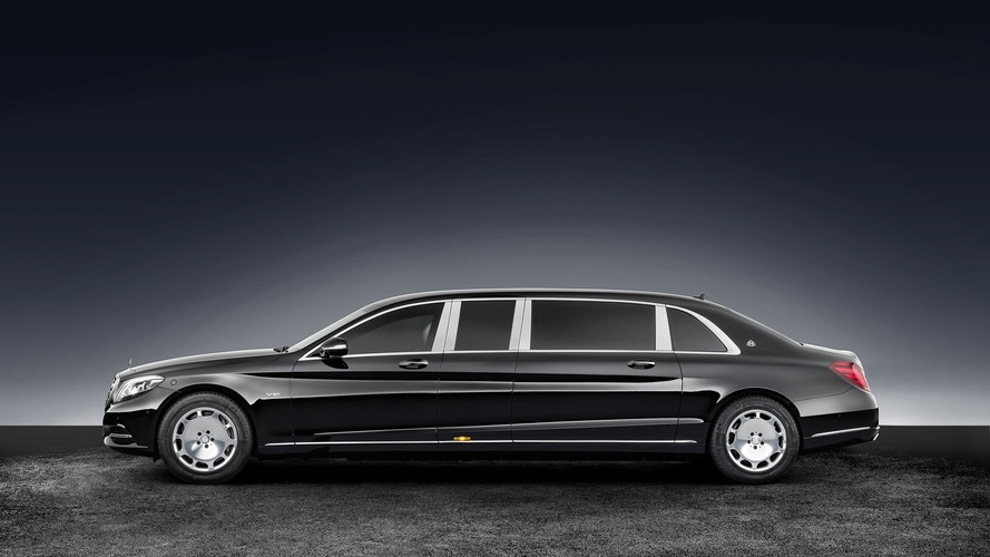 mercedes maybach s600 pullman guard is 56 tons of Mercedes Maybach S600 Pullman Guard