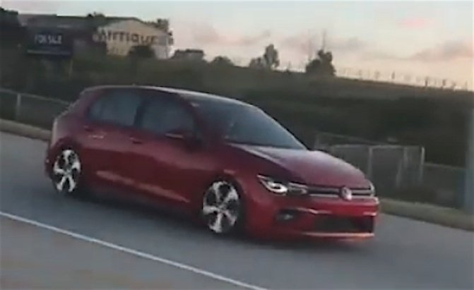 new golf mk8 leaked filmed casually driving in south africa Volkswagen Golf Mk8 Gti