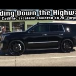 sliding down the highway on 28 forgiatos lowered 2015 cadillac escalade hows it ride Cadillac Escalade Lowering Kit