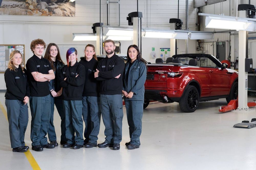 some of this years apprentice jaguar land rover office Jaguar Land Rover Apprenticeships