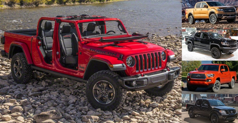 specs and dimensions comparison between gladiator and its Jeep Gladiator Engine Specs