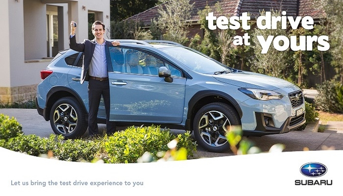 subaru comes to you introducing mobile test drive Subaru Test Drive Offer