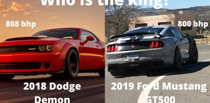 the ultimate muscle car 2018 dodge demon vs 2019 ford Mustang Gt500 Vs Dodge Demon