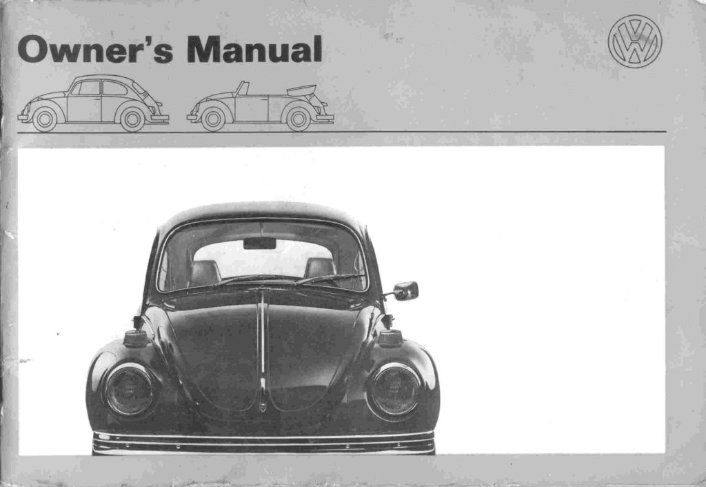 thesamba 1971 beetle owners manual Volkswagen Owners Manual
