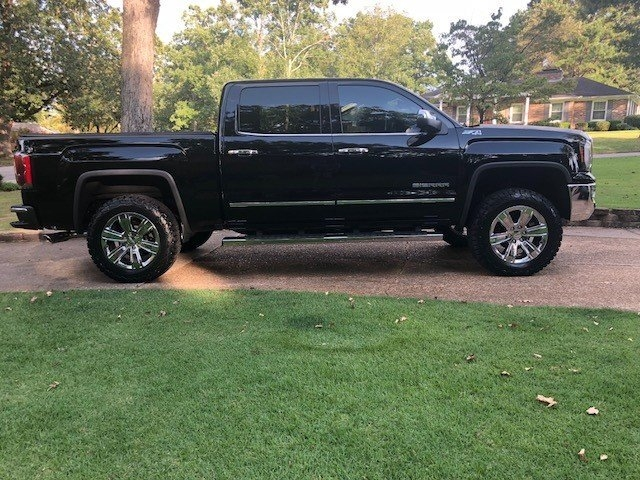 tire size with a 25 inch leveling kit on the front 2014 Gmc Sierra Leveling Kit