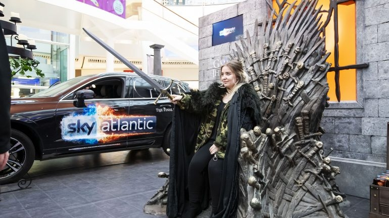 volvo car uk supports nationwide experiential tour promoting Volvo Game Of Thrones Competition