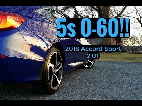 0 60 in 5sec wheelspin new 2018 accord sport 20t Honda Accord Zero To 60