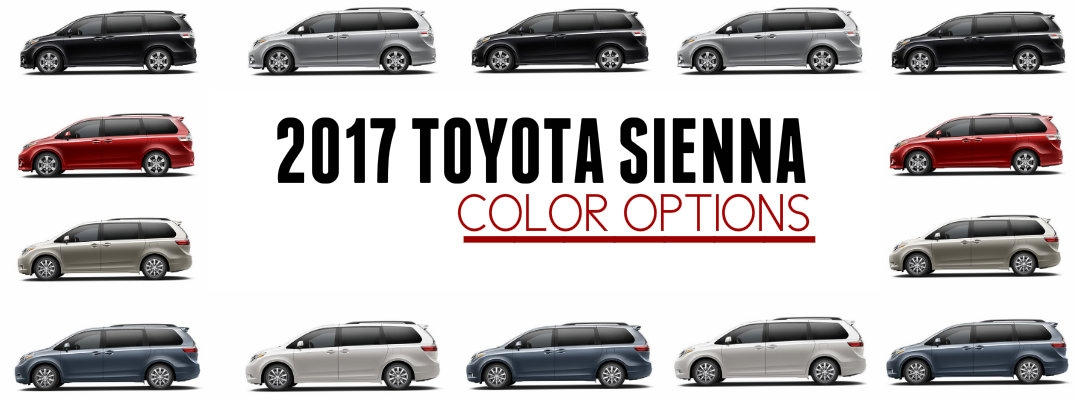 2017 toyota sienna exterior color options Toyota Exterior Colors