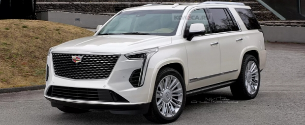 2021 cadillac escalade rendered with ct6 front xt6 rear Cadillac Escalade Release Date