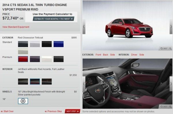 build your own 2014 cadillac cts online now torque news Cadillac Build Your Own