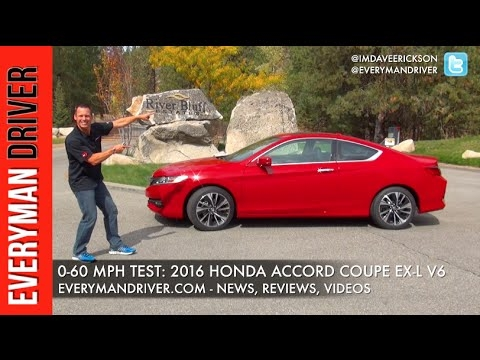 how fast 0 60 mph 2016 honda accord coupe on everyman driver Honda Accord Zero To 60