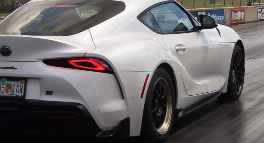 slightly moded 2020 toyota supra has just done a 10 second Toyota Supra Quarter Mile