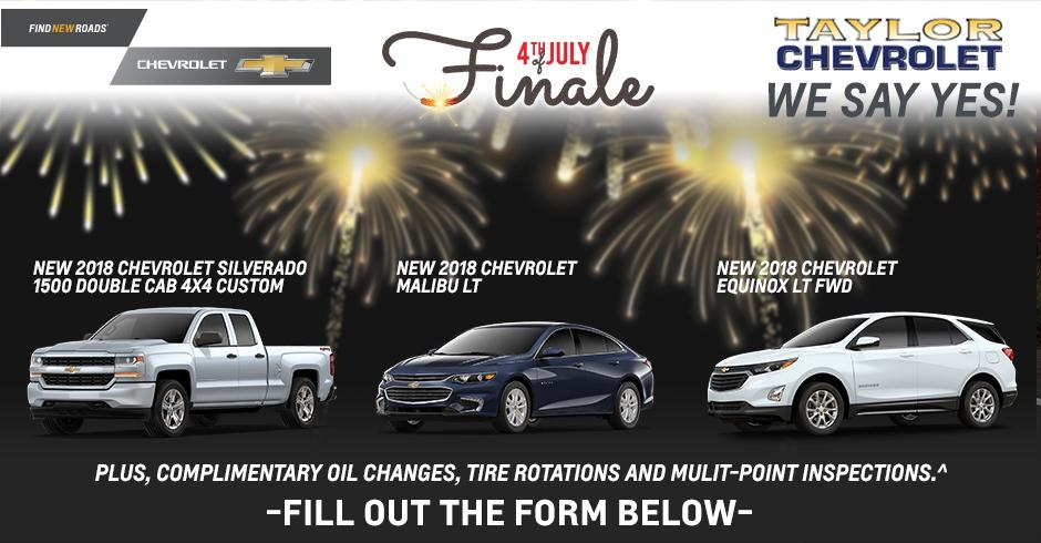 taylor chevrolet is a taylor chevrolet dealer and a new car Chevrolet July Incentives