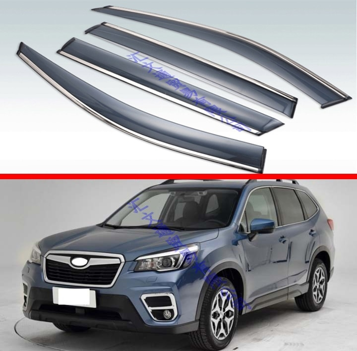 us 3555 21 offfor subaru forester sk 2018 2019 decorate accessories plastic exterior visor vent shades window sun rain guard deflector 4pcs in Subaru Forester Accessories