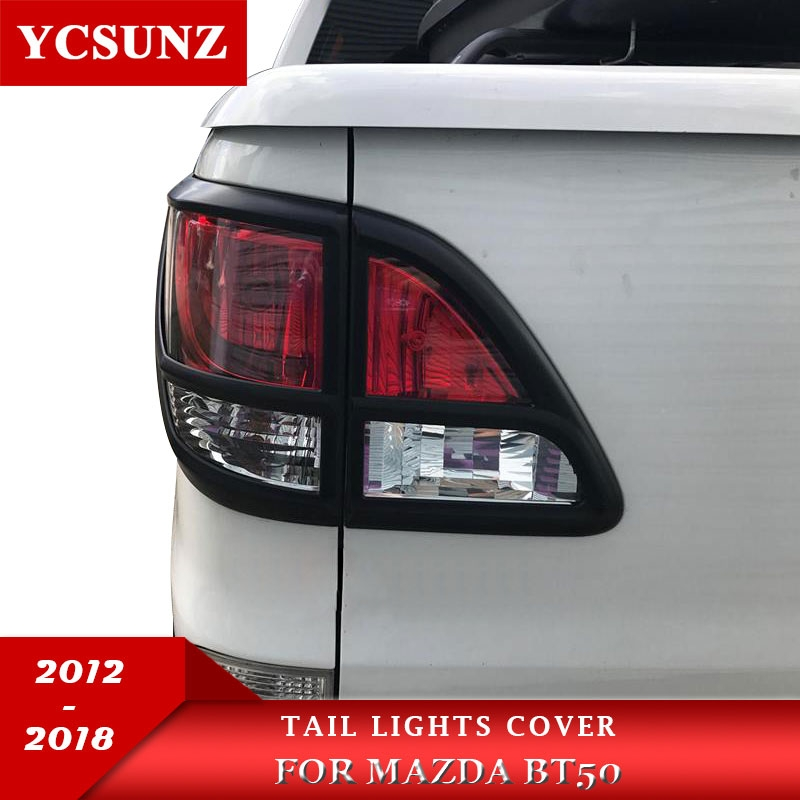 us 4192 30 off2018 for mazda bt50 accessories matte black rear lamp lights cover for mazda bt 50 2012 2018 car styling ycsunz in lamp hoods from Mazda Bt 50 Accessories