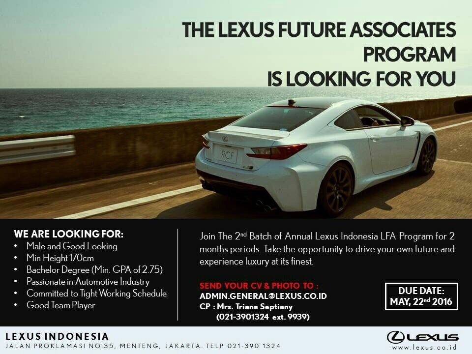 vera kumalawati on twitter drive your future and Lexus Future Associate Program