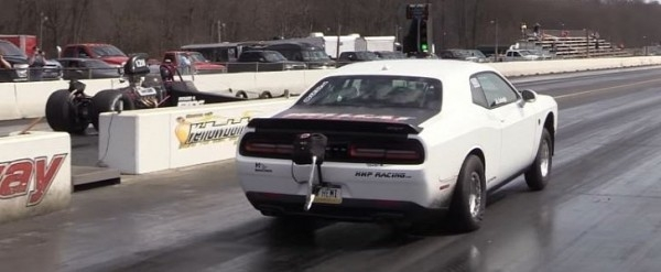 worlds fastest challenger hellcat sets new 14 mile record Dodge Challenger Hellcat Quarter Mile