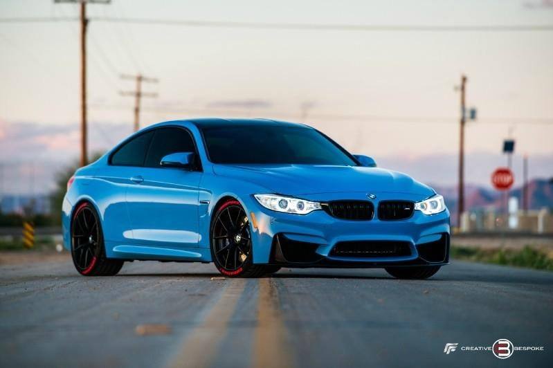 yas marina blue on the bmw m4 coupe with dinan stage 3 Bmw M4 Yas Marina Blue