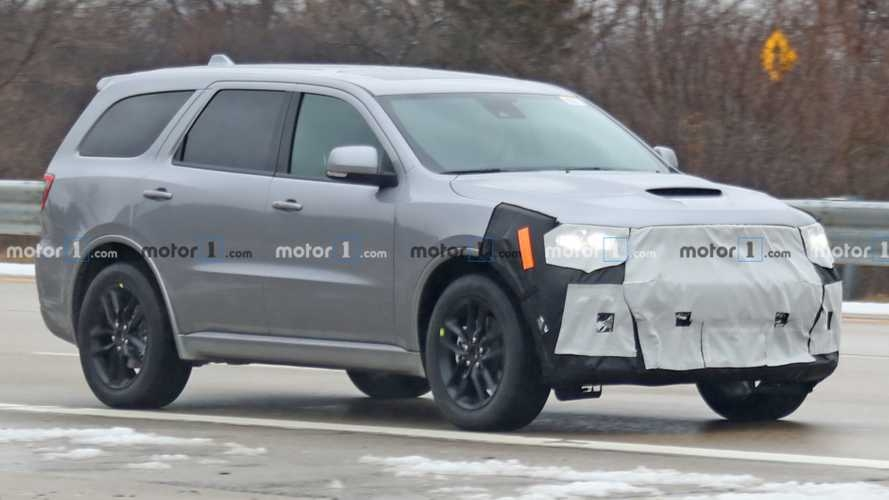 refreshed dodge durango spied trying to cover updated face Dodge Durango Spy Photos