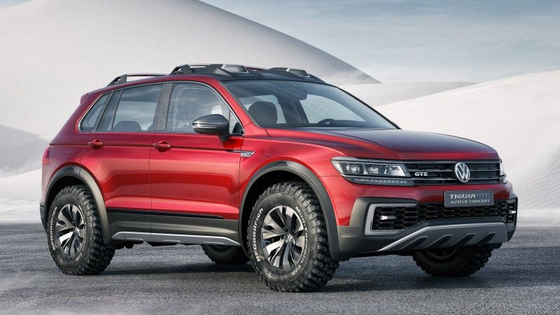 vw tiguan gte active concept is a sporty off road hybrid w Volkswagen Tiguan Hybrid