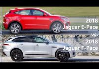 2018 jaguar e pace vs 2018 jaguar f pace technical Jaguar EPace Vs F Pace