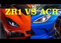 corvette zr1 vs viper acr Corvette Zr1 Vs Dodge Viper Acr