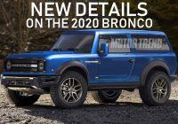 exciting new details on the 2020 ford bronco specs styling Ford Bronco Release Date