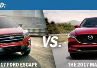 head to head the 2017 ford escape vs the 2017 mazda cx 5 Ford Escape Mazda Cx 5