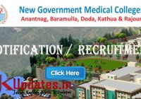 merit list for new gmc for various posts government Gmc Anantnag Recruitment