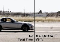 stock miata beats bunch of high powered cars in wet 14 mile Mazda Miata Quarter Mile