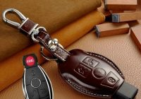 us 250 leather car key case for mercedes benz c e class 260 280 gla glc w203 w210 w211 for mercedes key fob cover holder accessories in key case Mercedes Key Fob Cover