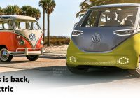vw bus is back with id buzz concept electric vehicle vw Volkswagen Electric Bus