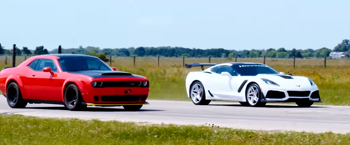 1000 hp hennessey corvette zr1 vs dodge demon Corvette Zr1 Vs Dodge Demon