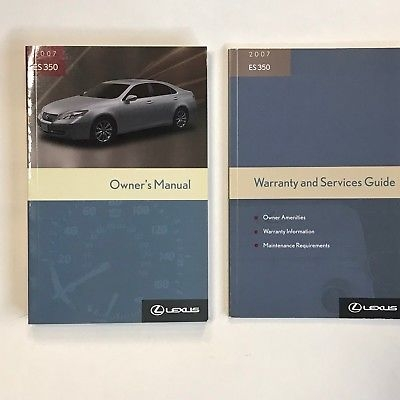 2007 lexus es350 owners manual and warranty guide looks new ebay Lexus Es350 Owners Manual