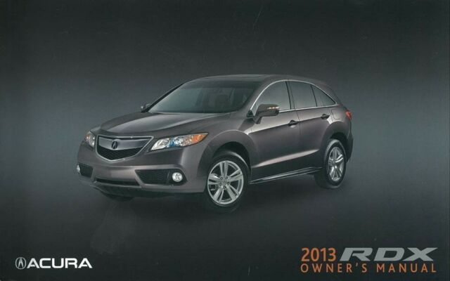 Permalink to Acura Rdx Owner'S Manual