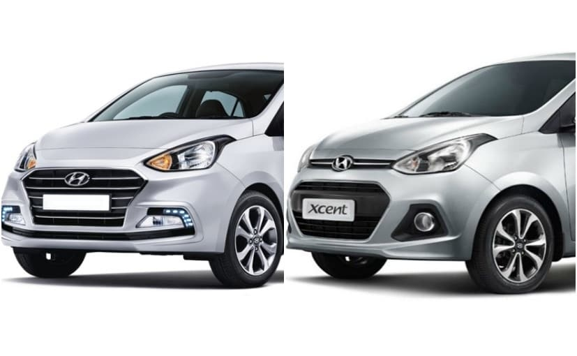 2020 hyundai xcent old vs new carandbike Hyundai Xcent New Model