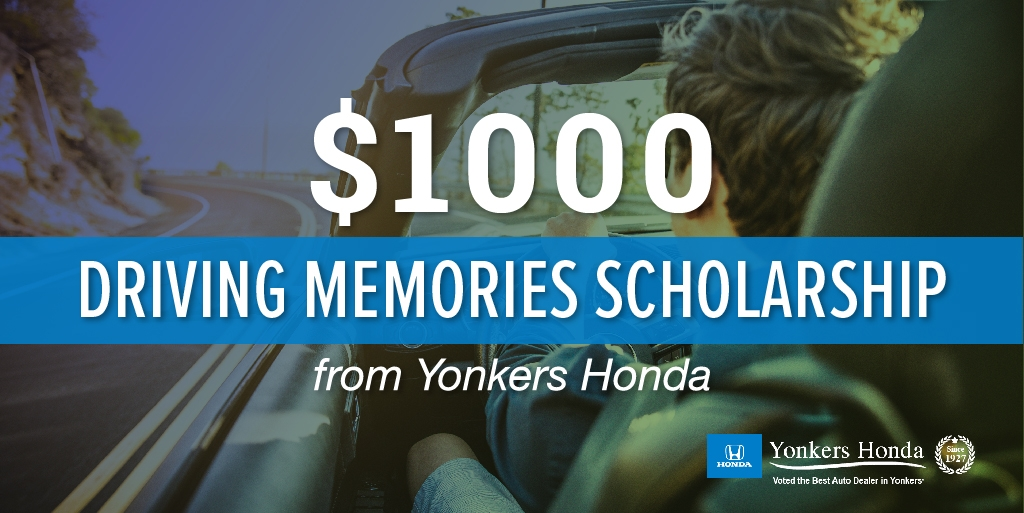 2020 1000 safe driving scholarship from yonkers honda Yonkers Honda Scholarship